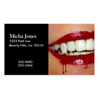 Bloody Fangs Hot Lips Vampire Pack Of Standard Business Cards
