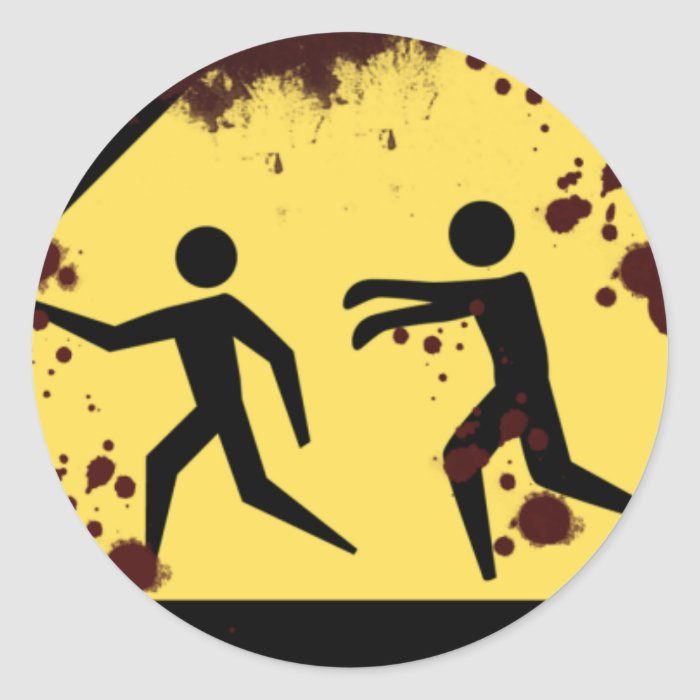 Bloody Fast Moving Zombies Stickers
