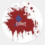 Bloody free tibet classic round sticker