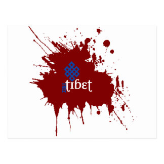 Bloody free tibet postcard