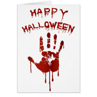 Bloody halloween hand card
