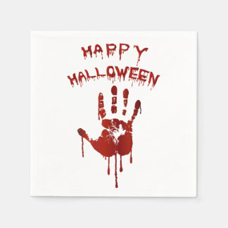 Bloody halloween hand disposable serviettes