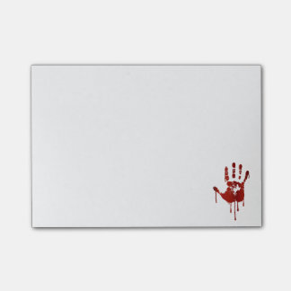 Bloody halloween hand post-it® notes