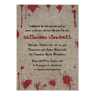Bloody Halloween Party 11 Cm X 16 Cm Invitation Card