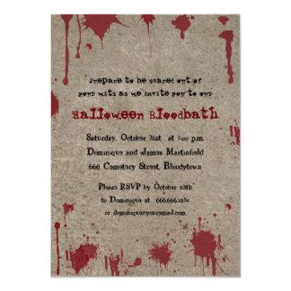 Bloody Halloween Party 11 Cm X 16 Cm Invitation Card