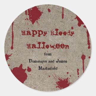 Bloody Halloween sticker