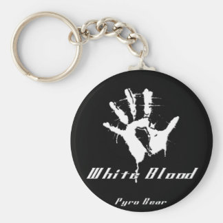 bloody hand basic round button key ring