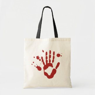 Bloody Hand Blood Spatter Halloween Trick Or Treat Budget Tote Bag