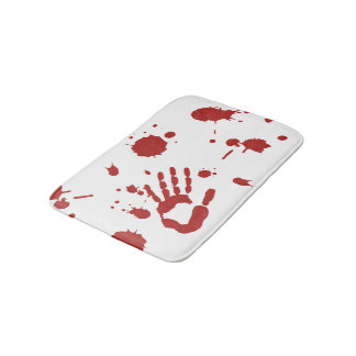 Bloody Hand Blood Splattered Bath Mat Bath Mats