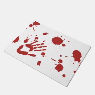 Bloody Hand Blood Splattered Halloween Doormat