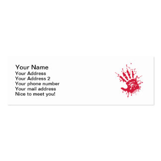 Bloody hand business cards
