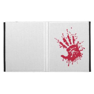Bloody hand iPad folio cases