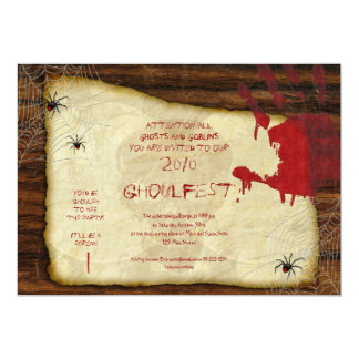 Bloody Hand Halloween Party Invitation