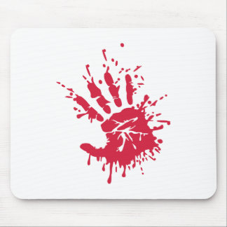 Bloody hand mousepads