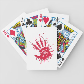 Bloody hand poker cards