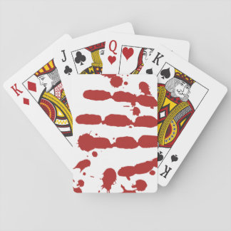 Bloody Hand Print Blood Spatter Halloween Games Playing Cards