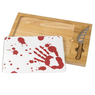 Bloody Hand Print Blood Spatter Halloween Props