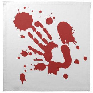 Bloody Hand Print Blood Spatter Halloween Props Napkin