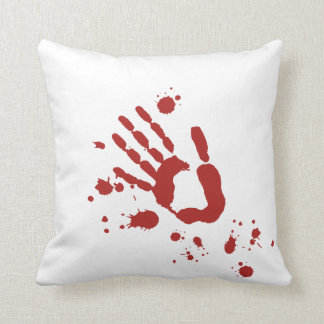 Bloody Hand Print Blood Spatter Halloween Props Throw Cushion