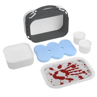 Bloody Hand Print Blood Splatter Halloween Props Lunchboxes