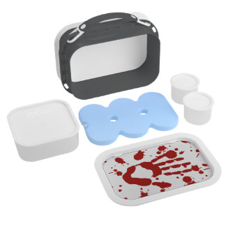 Bloody Hand Print Blood Splatter Halloween Props Lunchboxes