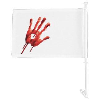 Bloody Hand Print Car Flag