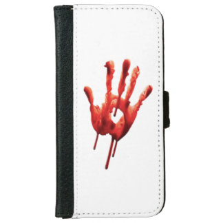 Bloody Hand Print iPhone 6 Wallet Case