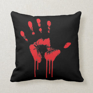 Bloody Hand Print Pillow
