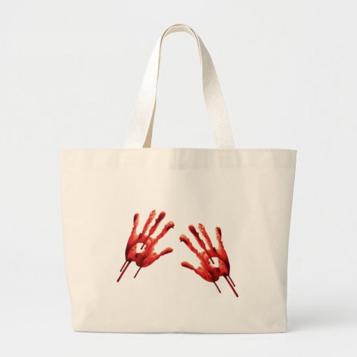 Bloody Hand Prints Bag