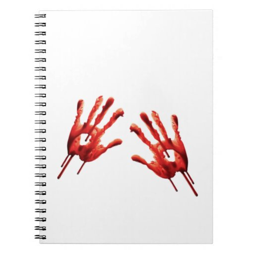 Bloody Hand Prints Spiral Note Book