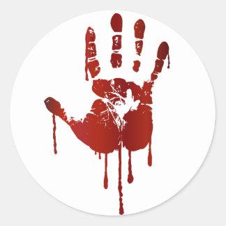 Bloody hand sticker