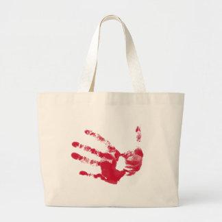 Bloody Hand Jumbo Tote Bag