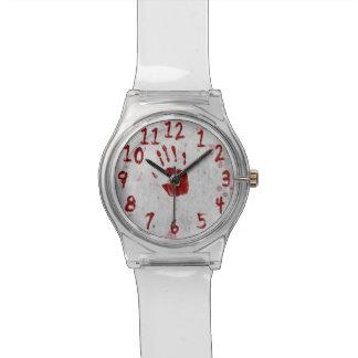 Bloody Handprint and Splatters - Watch