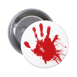 Bloody Handprint Button