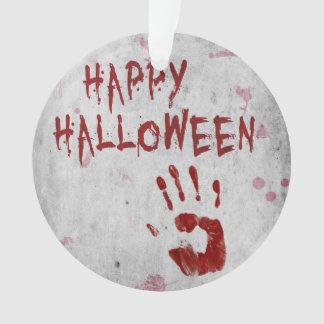 Bloody Handprint Halloween - Ornament