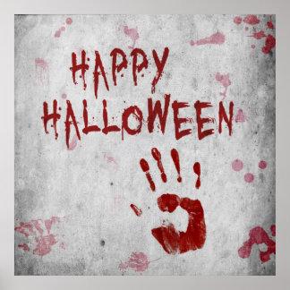Bloody Handprint Halloween - Poster