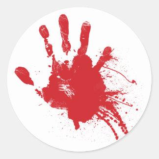 Bloody Handprint Sticker
