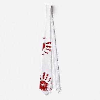 Bloody Handprint Tie