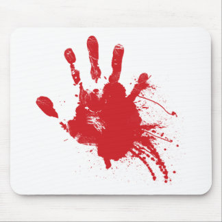 Bloody Handprint Z Mouse Mat