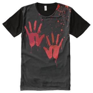Bloody Hands Halloween Costume All-Over Print T-Shirt