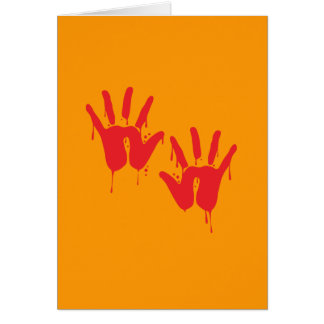 BLOODY HANDS - Halloween - png Card
