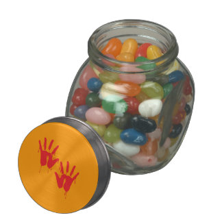 BLOODY HANDS - Halloween - png Jelly Belly Candy Jars