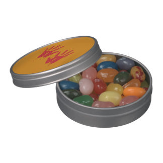 BLOODY HANDS - Halloween - png Jelly Belly Tin