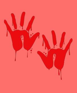 BLOODY HANDS - Halloween - png Shirt