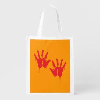 BLOODY HANDS - Halloween - png Market Tote