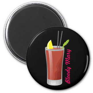 Bloody Mary 6 Cm Round Magnet