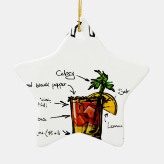 Bloody Mary Cocktail Recipe Christmas Ornament