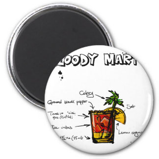 Bloody Mary Cocktail Recipe Magnet