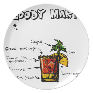 Bloody Mary Cocktail Recipe Plate