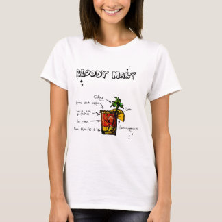 Bloody Mary Cocktail Recipe T-Shirt
